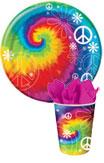 tie dye paper goods