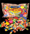 Pinata candy and toys