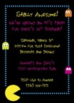 personalized 80s theme party invitation