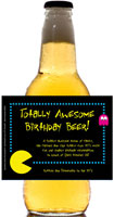 personalized 80s theme beer bottle label