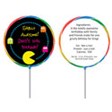 80s theme lollipops