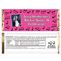 Rock n Roll party theme candy bar wrappers