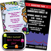Music theme invitations