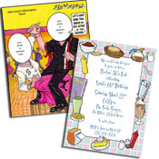 Fifties Rock n Roll theme invitations and party favors