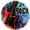 rock n roll theme paper goods