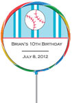 custom baseball theme lollipop party favor