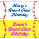 Baseball party theme banners