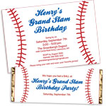 Baseball theme invitations and favors