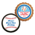 Baseball party theme cookies