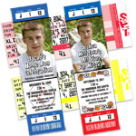 Sports theme tickets and pass invitations