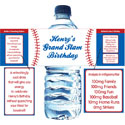 Baseball Party theme water labels