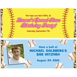 Baseball party theme candy bar wrappers