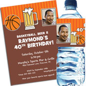 Basketball theme invitations and favors