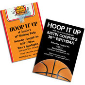 See all basketball theme invitations and favors