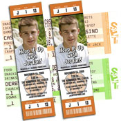 Basketball theme tickets and pass invitations