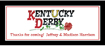 custom banner for a kentucky derby party