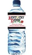 kentucky derby water bottle label