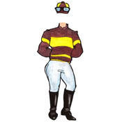 Kenutcky Derby jockey lifesize cutout