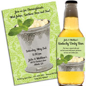 Kenutcky Derby mint julip theme invitations and favors
