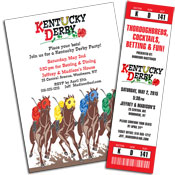 Kenutcky Derby party theme invitations and favors