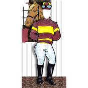 Kenutcky Derby jockey photo opcutout