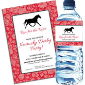 Kenutcky Derby rose theme invitations and favors