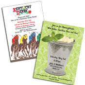 Kenutcky Derby theme invitations and favors