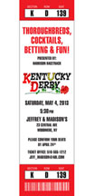 custom ticket invitation for kentucky derby theme party