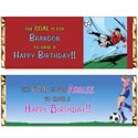 Soccer party theme candy bar wrappers