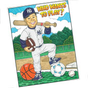 Sports theme custom caricature invitations