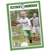 Soccer magazine theme invitations and favors