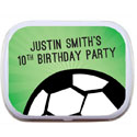 Soccer party theme mint tins