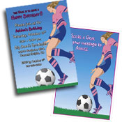 Soccer theme invitations and favors