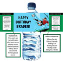 Soccer Party theme water labels