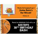 Basketball party theme candy bar wrappers