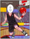 semi custom basketball caricature