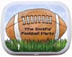 personalized football mint and candy tin