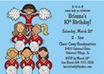 personalized cheerleading invitation