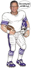 football player life size cutout