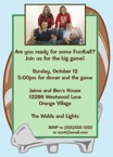 personalized football party invitation
