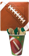 football theme paper goods