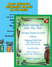 personalized golf theme invitation