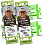 Golf theme ticket invitations
