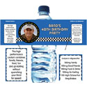 Nascar party theme water labels