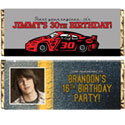 Nascar party theme candy bar wrappers