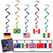 International theme flag danglers