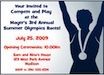 personalized summer olympics party invitation