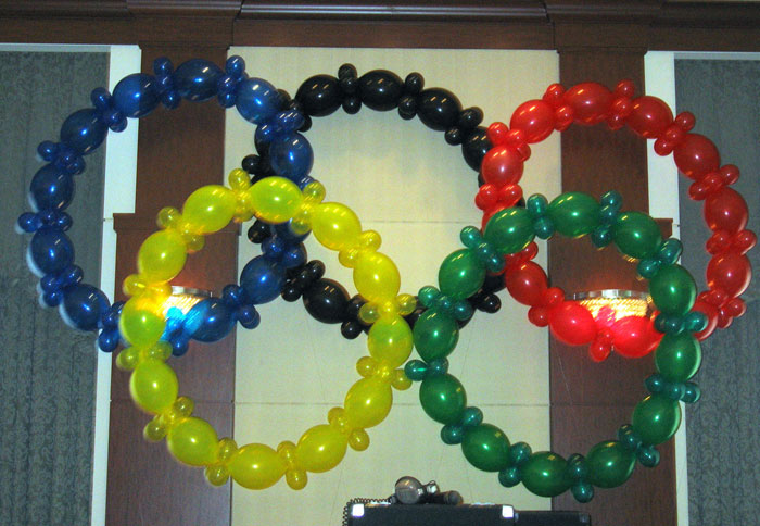 Olympics theme balloon display