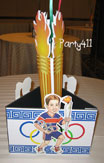 Olympics party centerpiece