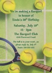 personalized tennis theme invitation